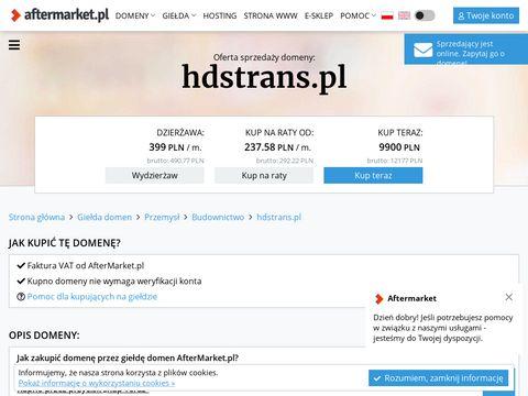 Hdstrans.pl transport ciężarowy