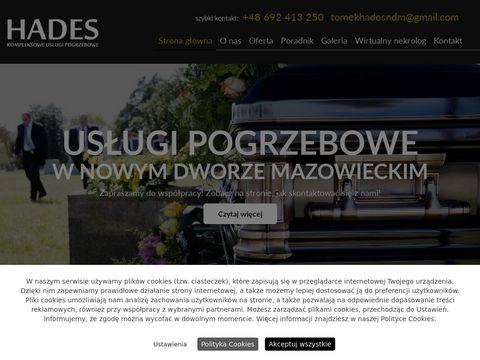 Hades trumny Nowy Dwór Mazowiecki