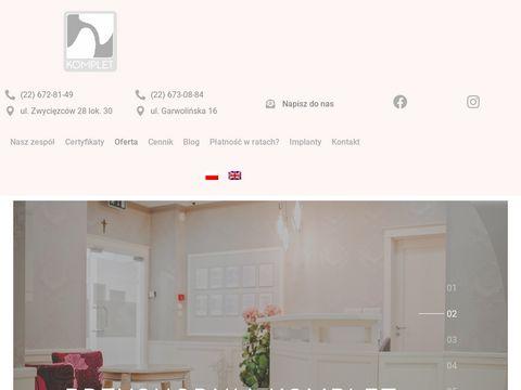 Implanty-komplet.pl gabinet stomatologiczny Warszawa
