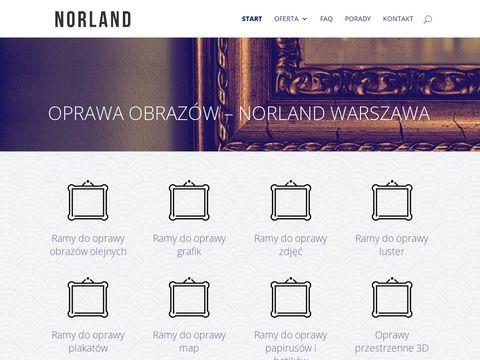 Norland.ant.pl oprawa obrazów Warszawa