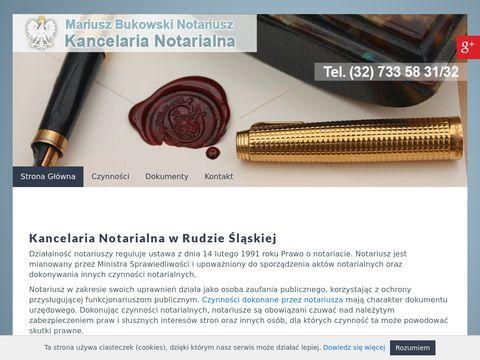M. Bukowski notariusz Chorzów