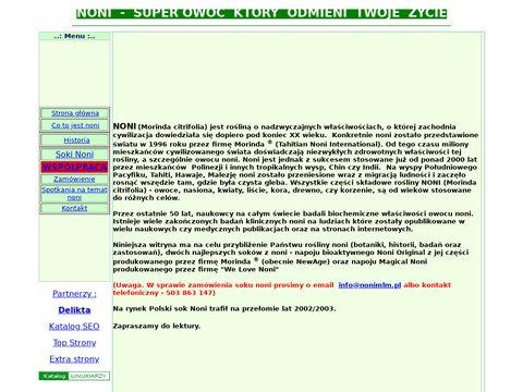 Nonimlm.pl oryginalne produkty z noni