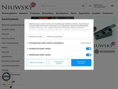 Ogorodzenia, bramy, folie budowlane - Niuwsky