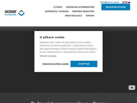 Ocmer doradztwo projektowe i techniczne, montaż hal