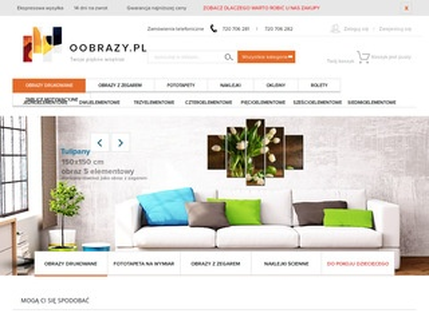 Oobrazy.pl na płótnie