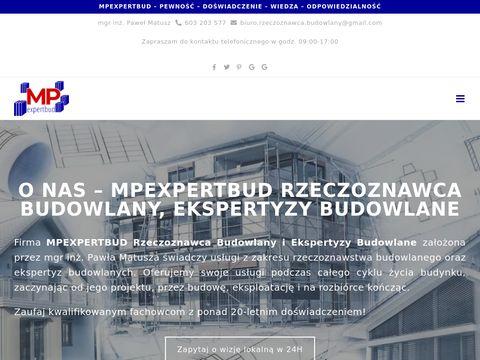 Mpexpertbud.pl rzeczoznawca budowlany Warszawa