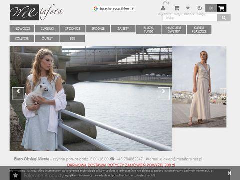 Metafora.net.pl sukienka dopasowana sklep internetowy
