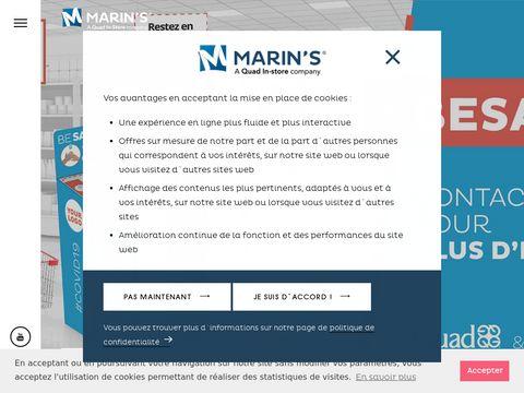 Marin's Stojaki reklamowe LAMA, zapraszamy