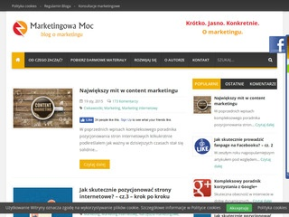 Blog o marketingu - Marketingowa-moc.pl