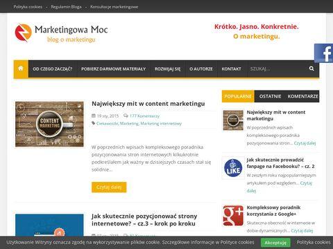 Blog o marketingu - Marketingowa-moc.pl