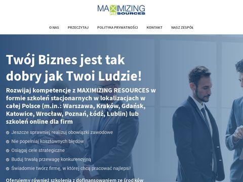 Maxres.pl kursy sprzedażowe Kraków
