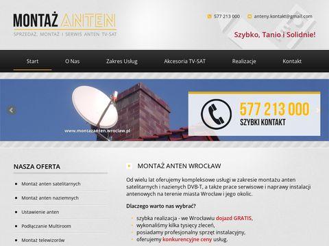 Montaż anten satelitarnych Wrocław