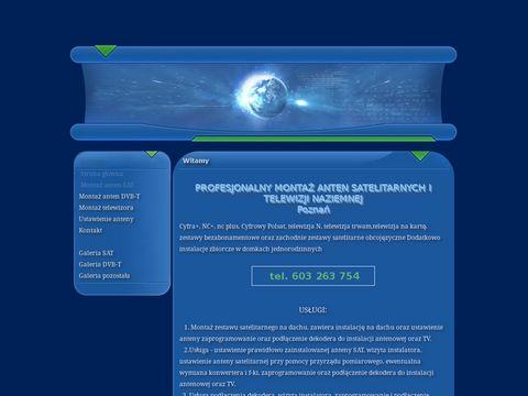 Montaz.plazmy.com.pl anten satelitarnych Poznań