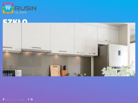 Rusinglass.pl panele szklane do kuchni