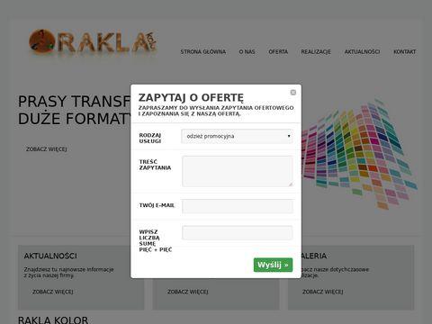 Rakla-kolor.pl nadruki na koszulkach