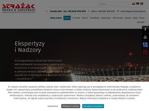 Strazak.waw.pl zabezpieczenia ogniochronne Warszawa