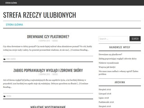 StrefaRzeczyUlubionych.pl - Wyposażenie wnętrz