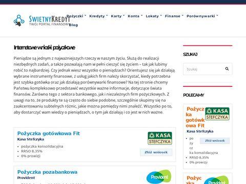 Swietnykredyt.pl pożyczki chwilówki przez sms