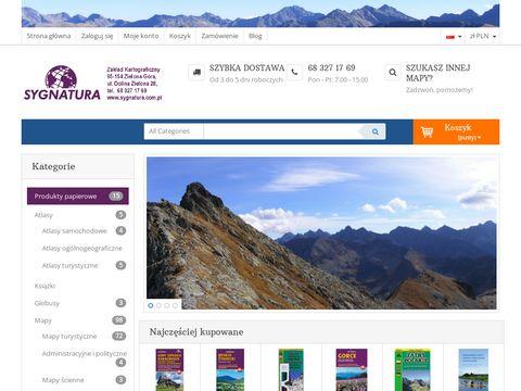 Sygnatura.com.pl Beskid Niski mapa