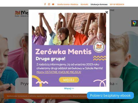 Szkola-mentis.edu.pl podstawowa Warszawa