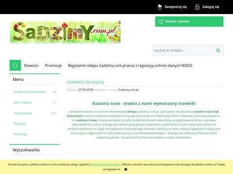Sadzimy.com.pl Nasiona traw w sklepie internetowym