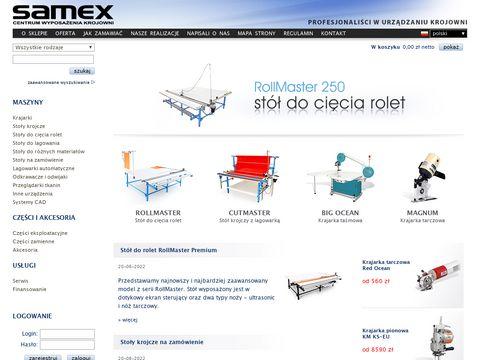 Samex.com.pl - stoły do odcinania tkanin