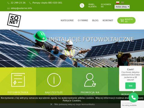 Solarne.info ogniwa fotowoltaiczne sklep