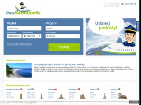 Pansamolocik.pl Tanie podróże bilety lotnicze