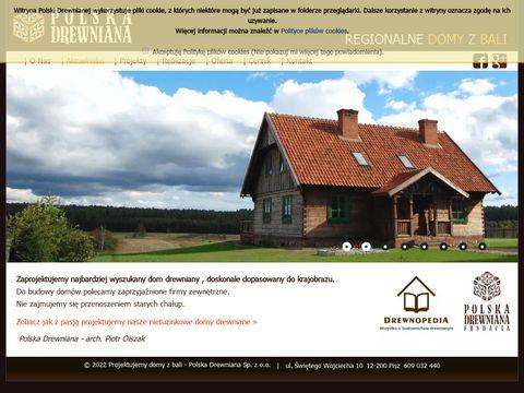 Polska Drewniana projektowanie domów z bali