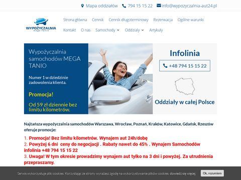 Wypozyczalnia-aut24.pl sieć wypożyczalni