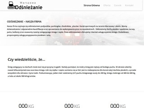 Sorted firma odśnieżająca w Warszawie