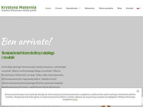Wloski-Tlumacz.com.pl - Krystyna Maternia