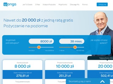 Wonga.pl - lider w pożyczaniu
