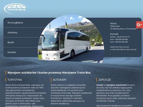 Trans-Bus wynajem busów Warszawa