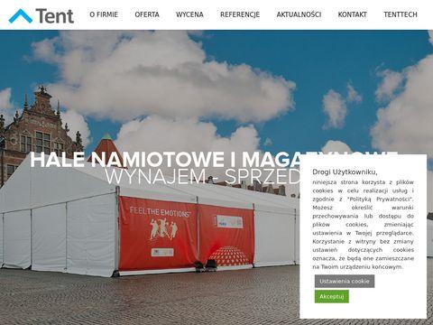 Tent.com.pl magazyny namiotowe czasowe