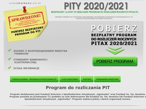 Urzadskarbowy-pit.pl program do rozliczeń PIT