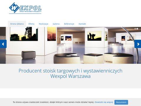 Wexpol oferta zabudowy stoisk